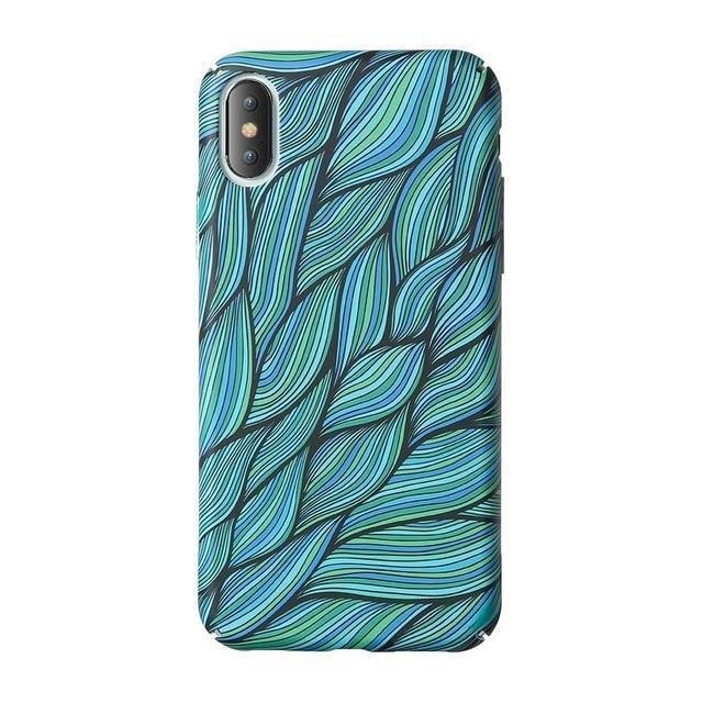 Green Leafy Knots Pattern Phone Case