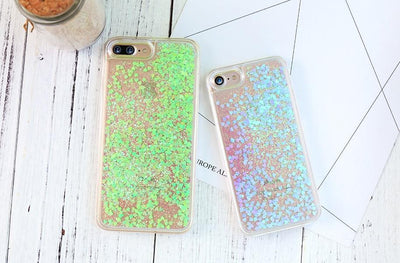 Green Stardust Liquid Glitter iPhone Case Cellphone Case Pacific Bling