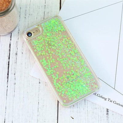Green Stardust Liquid Glitter iPhone Case Pacific Bling