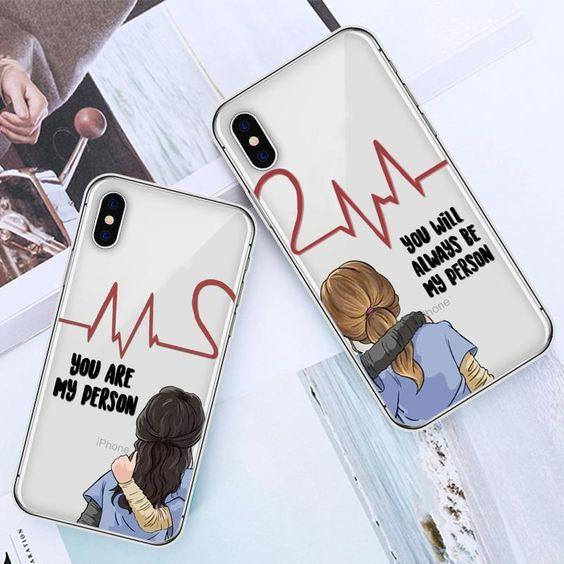 Grey's Anatomy BFF Matching Phone Cases