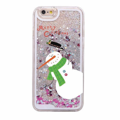 Happy Snowman Holiday Glitter Phone Case Pacific Bling