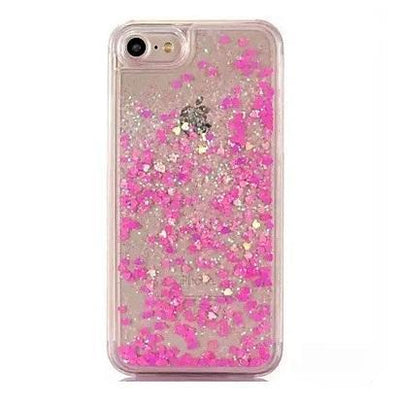 Hot Pink Stardust Liquid Glitter iPhone Case Pacific Bling