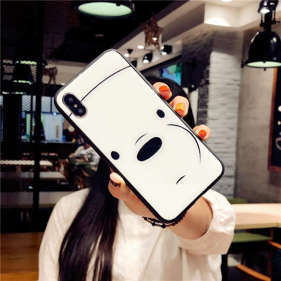 Ice Bear We Bare Bears Tempered Glass Phone Case