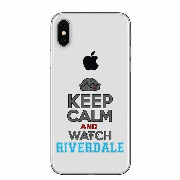 Keep Calm & Watch Riverdale Clear Phone Case