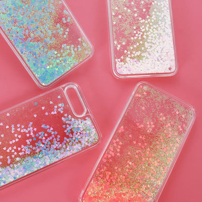 Light Blue Stardust Liquid Glitter iPhone Case Pacific Bling