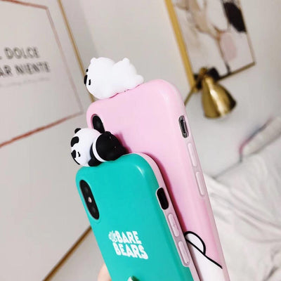 Light Pink We Bare Bears 3D Phone Case Pacific Bling