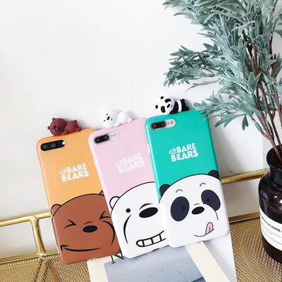 Light Pink We Bare Bears 3D Phone Case