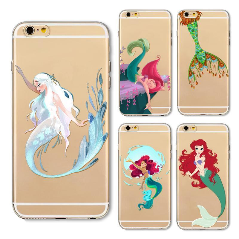 Mermaid with Peacock Fish Tail iPhone Case