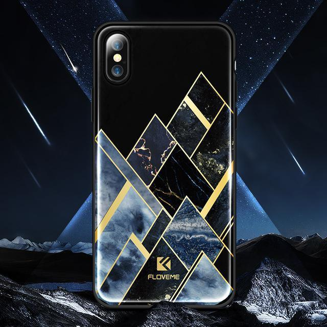 Meteor Black Lacquered Marble iPhone Case