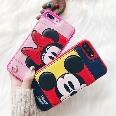 Mickey Mouse 3D Pocket Leather Phone Case Cellphone Case Pacific Bling