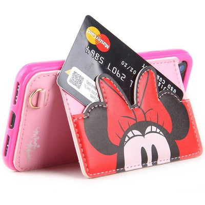 Minnie Mouse 3D Pocket Leather Phone Case Pacific Bling