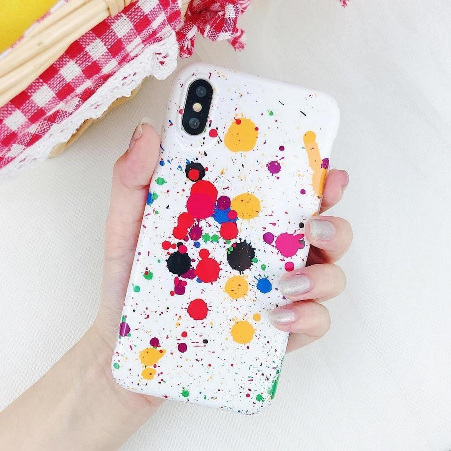 Paint Spatter Art Pattern Phone Case