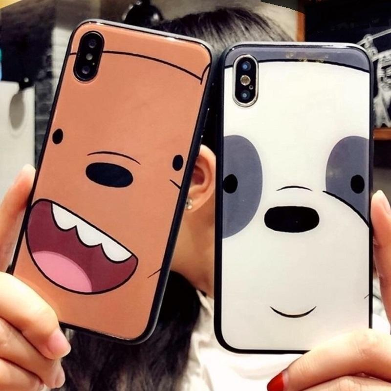 We Bare Bears Tempered Phone Case Pacific Bling