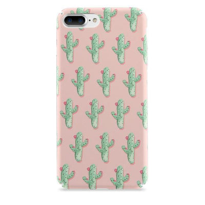 Pink Cactus Pattern iPhone Case Pacific Bling
