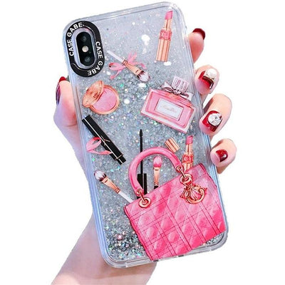 Pink Cosmetics Designer Makeup Glitter Phone Case Pacific Bling