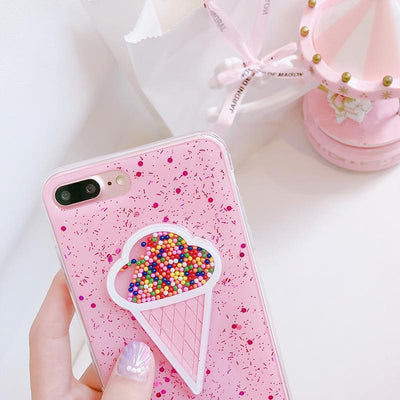 Pink Ice Cream Sprinkles iPhone Case Pacific Bling