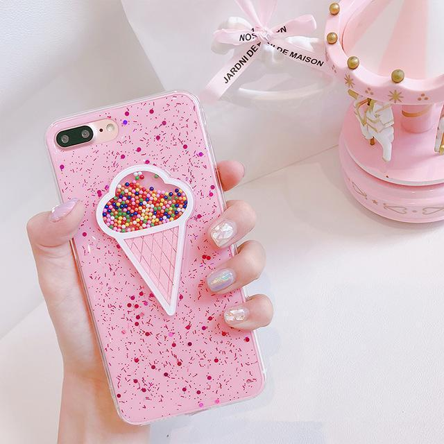 Pink Ice Cream Sprinkles iPhone Case