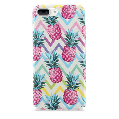Pink Pineapple Zigzag Pattern iPhone Case Pacific Bling