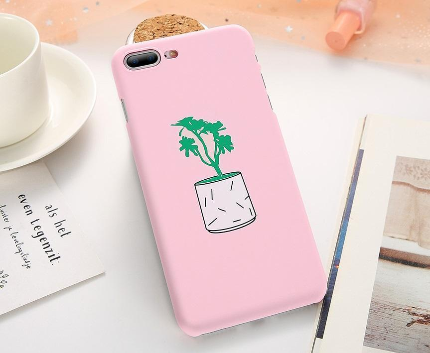 Pink Potted Plant iPhone Case