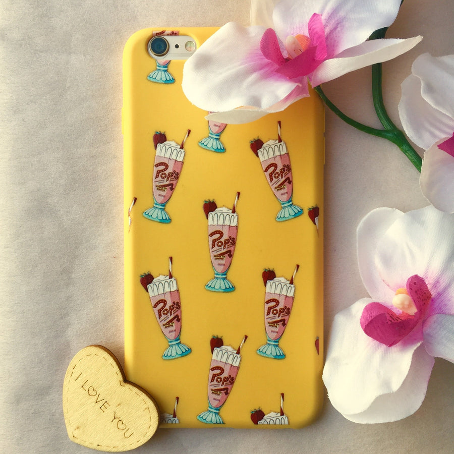 Pop's Milkshake Pattern Riverdale Phone Case