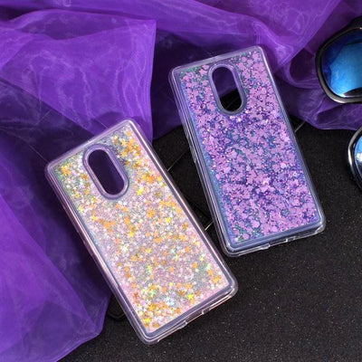 Purple Stardust Liquid Glitter Phone Case Pacific Bling