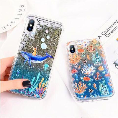 Sea Creatures & Corals Glitter Phone Case Pacific Bling