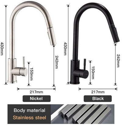 Sensor Touch Kitchen Faucet with Pull-Down Sprayer Pacific Bling