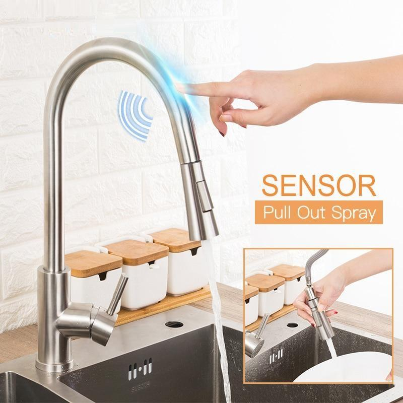 Stainless Steel Touch Kitchen Faucet with Pull-Down Sprayer Pacific Bling