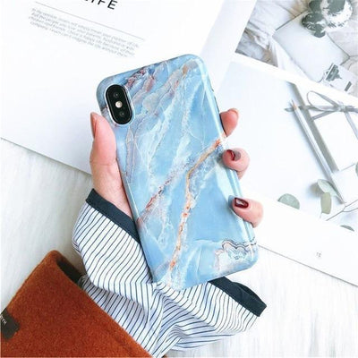 Sky Blue Granite Marble Phone Case Pacific Bling