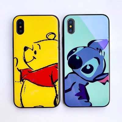 Stitch Tempered Phone Case PacificDisney's Stitch tempered glass back iPhone cell phone case by Pacific Bling Bling