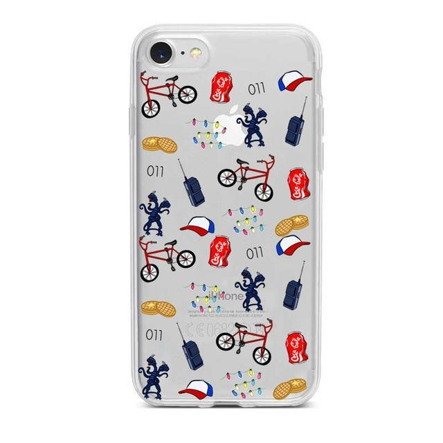 Stranger Things Clear Phone Cases