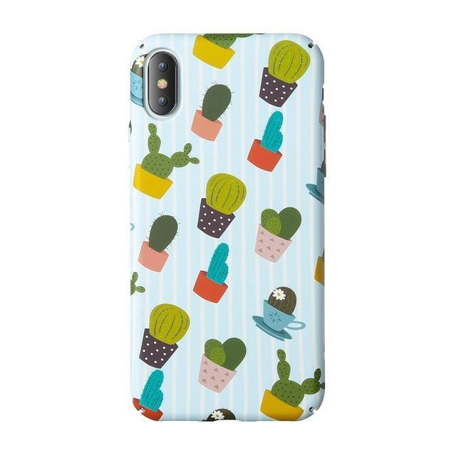 Succulent Cactus Pattern Phone Case