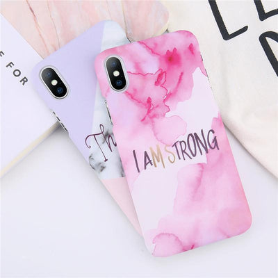 Thankful Quote Marble iPhone Case Pacific Bling