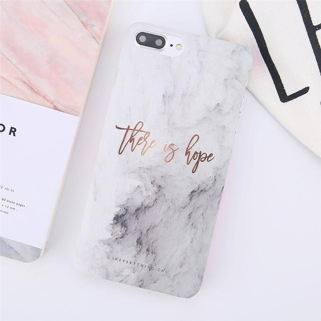There Is Hope Quote Marble iPhone Case