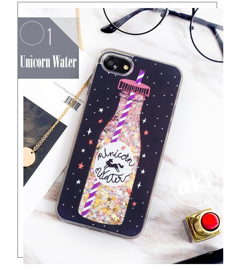 Unicorn Drinks Liquid Glitter Phone Case | WATER