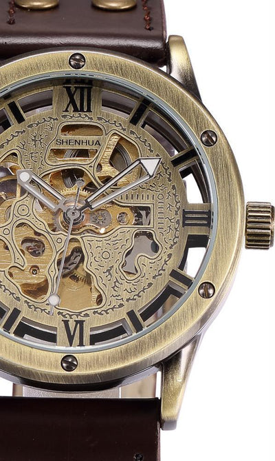Vintage Mechanical Steampunk Skeleton Watch Pacific Bling