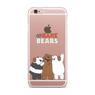 We Bare Bears Clear Phone Case Pacific Bling