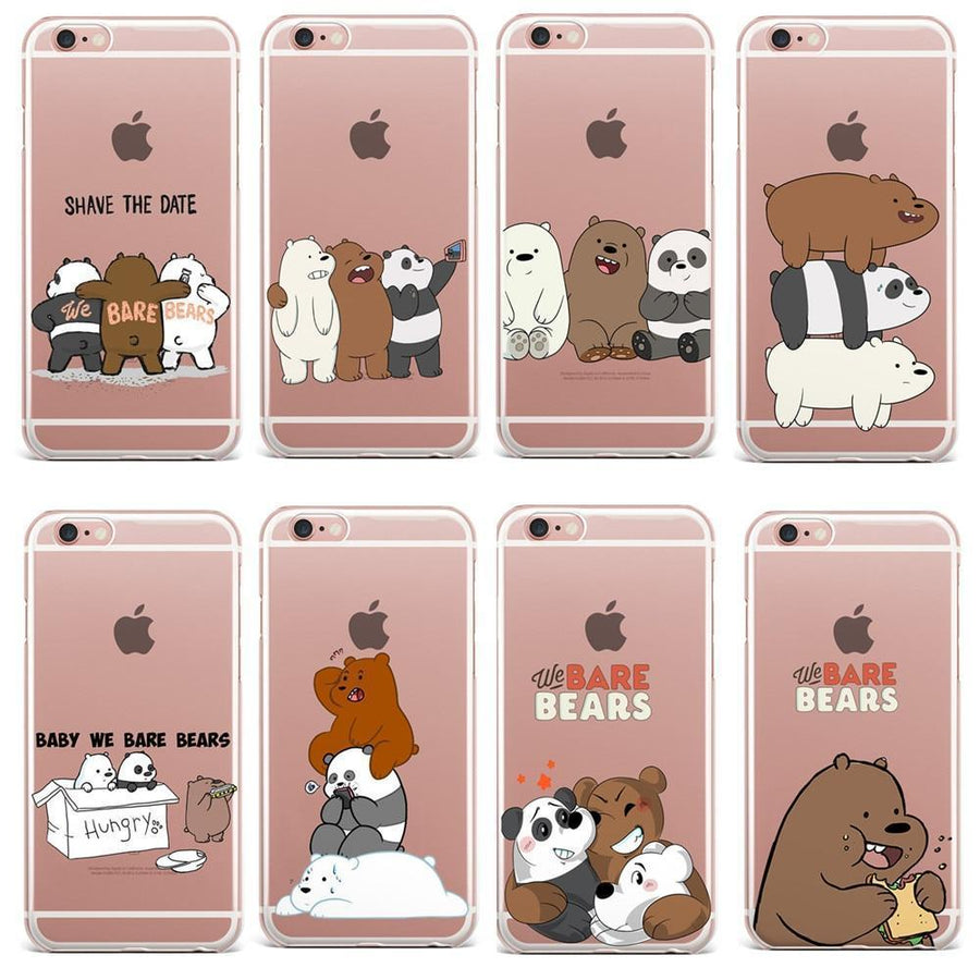 We Bare Bears Clear Phone Case