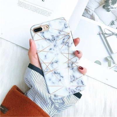 White Granite Marble Phone Case Pacific Bling
