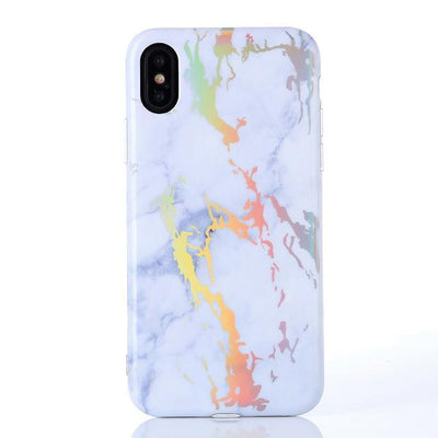 White Holo Laser Marble iPhone Case iPhone 6 6S Cellphone Case Pacific Bling