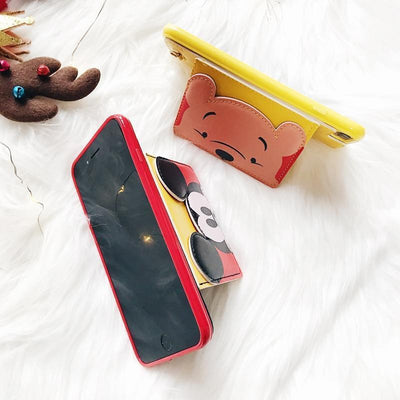 Winnie The Pooh 3D Pocket Leather Phone Case Pacific Bling