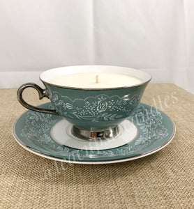 Vintage Tea Cup Candle~Soy Wax