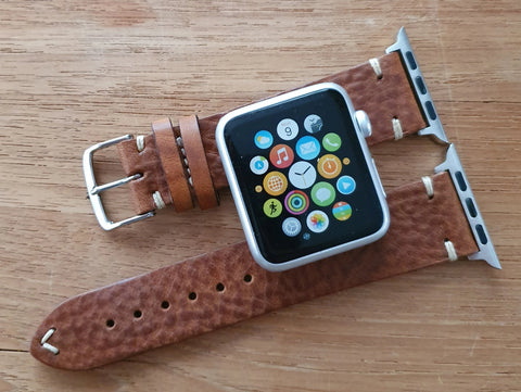 Apple Watch - Vintage Leather - Tobacco & Dark Brown & Black
