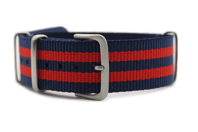 Nato - Blue & Red (brushed)