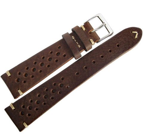 STRPS - Racing Vintage Leather - Tobacco & Dark Brown & Black