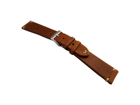 STRPS - Vintage Leather - Tobacco & Dark Brown