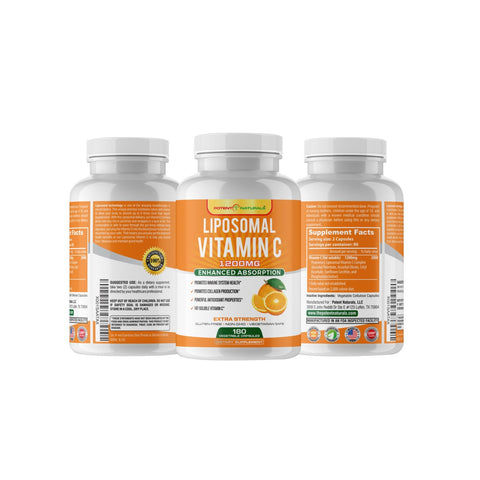 Image of LIPOSOMAL Vitamin C High-Absorption 1200mg - Potent Naturals