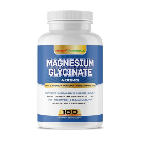 Image of MAGNESIUM Glycinate 400mg - Potent Naturals