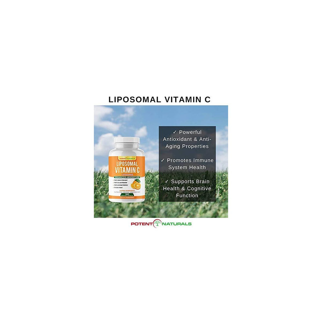 LIPOSOMAL Vitamin C High-Absorption 1200mg - Potent Naturals