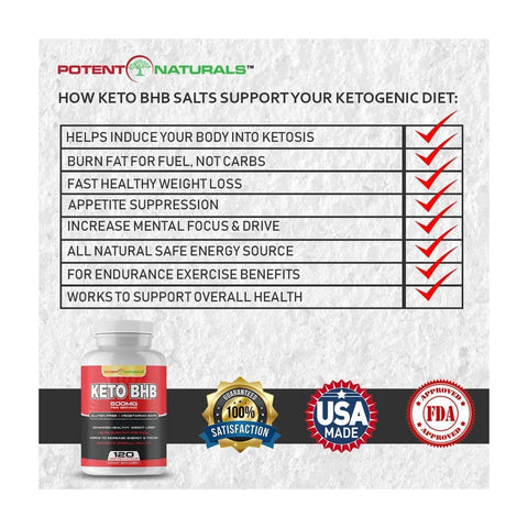 Image of KETO BHB Ketogenic Rapid Fat Burner - Potent Naturals